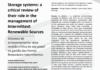 Sistemas de armazenamento: uma revisão crítica de seu papel na gestão das Fontes Renováveis Intermitentes